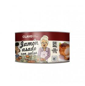 JAMON ASADO CON SALSA PESO NETO 400GR